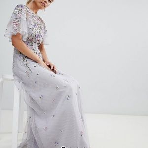 ASOS Petite Floral Embroidered Maxi Dress
